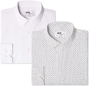 find. 2 Pack Slim Shirt Camisa Hombre (Pack de 2)