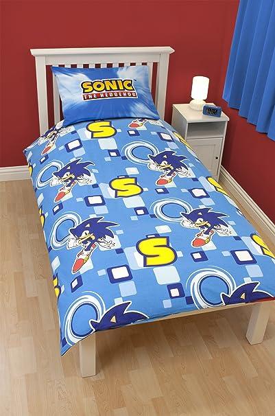 Amazon.com: Sonic The Hedgehog U0027Spinu0027 Panel Single Bed Duvet Quilt Cover  Set: Baby