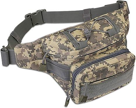UK Men Canvas Waist Fanny Pack Hip Bum Tactical Military Travel Hiking Belt Bags