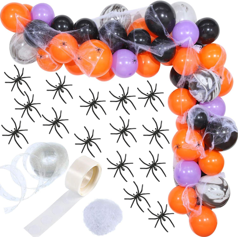 HALLOWEEN DECORATION toiles d/'araignée 100 g avec 8 Araignées Violet Ou Blanc