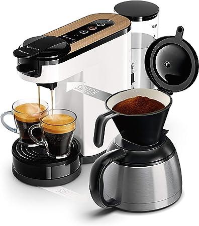 Philips Cafetera monodosis de café, color blanco madera: Amazon.es: Hogar