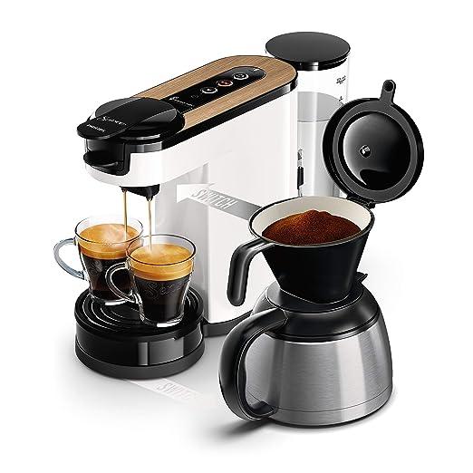 Philips Cafetera monodosis de café, color blanco madera ...