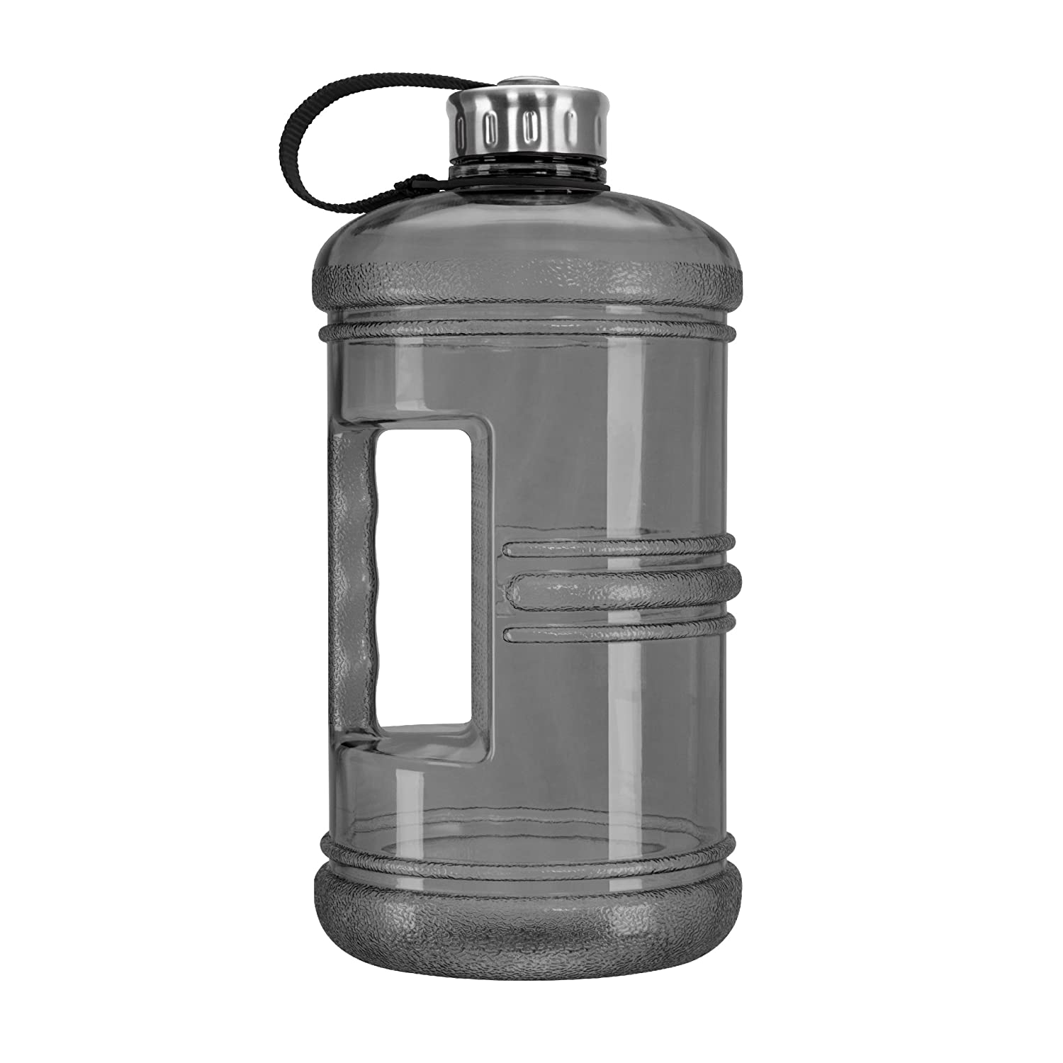 5266abf4a8 Amazon.com   Geo Sports Bottles 3 Liter BPA Free Reusable Plastic Drinking  Water Bottle w Stainless Steel Cap (Black)   Sports   Outdoors