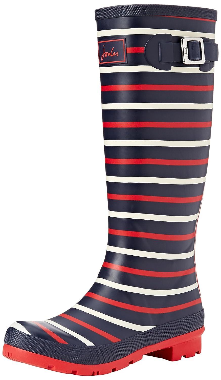 Joules Women's Welly Print Rain Boot B01MDJFJC3 5 B(M) US|Navy London Stripe