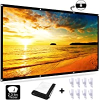 EZT3D 16:9 HD Anti-Crease Foldable 120 inch Projection Screen (White-Upgrade)