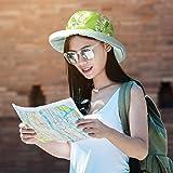 Women Cotton Canvas Reversible Bucket Hat UV Sun