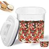 YNSKT Food Storage Container - Airtight Dry Food Container for Cereal, Rice, Flour, Beans, Sugar - BPA Free Plastic Dog Food