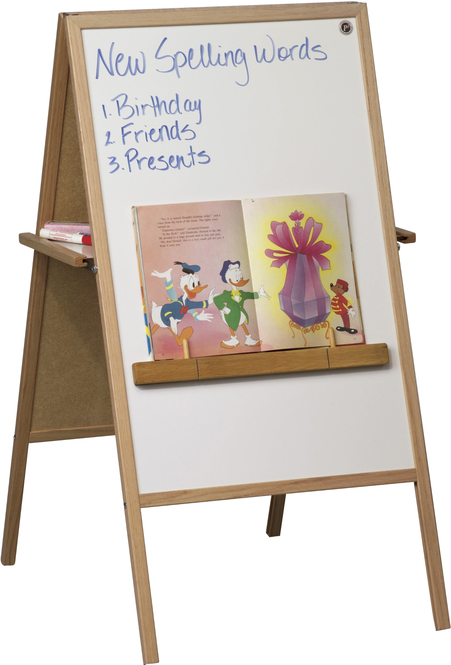 Best-Rite Teachers Magnetic Instructional Combo Easel, Dry Erase Marker & Chalk Surfaces (75T)
