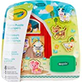 Crayola Farm Animals Wooden Puzzle & Stamps Set, Perfect Educational Toy for Preschool Education use, Encourages Creativity, 10 Pieces Included