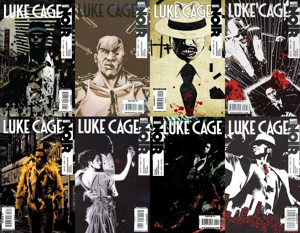 Luke Cage: Noir #1-4 (2009-2010) Limited Series Marvel Comics - 8 Comics