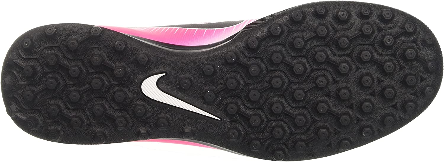Nike MercurialX Vortex III TF, Chaussures de Football Homme Rose Racer Pink Black White