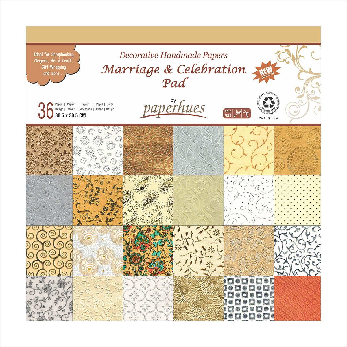 Scrapbook paper pads - Amazon Com Paperhues Wedding Scrapbook Paper 12x12 Pad 36 Sheets Celebration Pad Decorative Specialty Handmade Origami Paper Pad For Wedding Cards