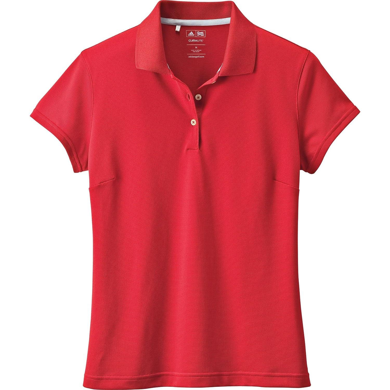 adidas Climalite Solid Polo de la Mujer - P78472 13-L, Rojo ...