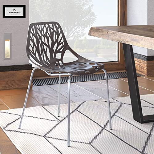 LeisureMod Forest Modern Dining Side Chair