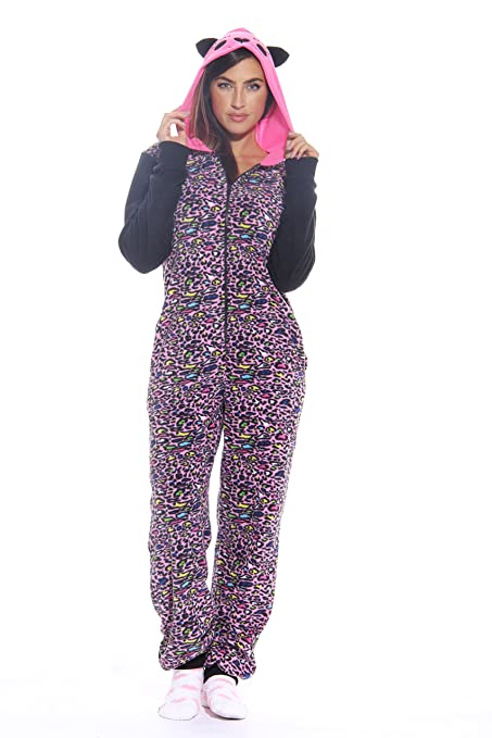 Adult Onesie Onesies -Leopard Micro-Small Super Soft Pink and Purple with  Cute f96bd4f2a