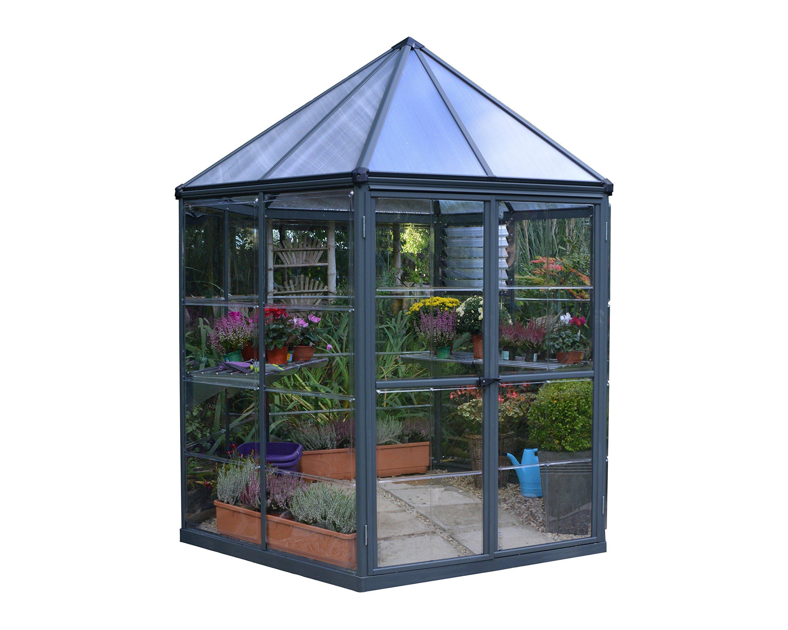 Palram Oasis Hobby Greenhouse, 7' x 8' x 9', Gray