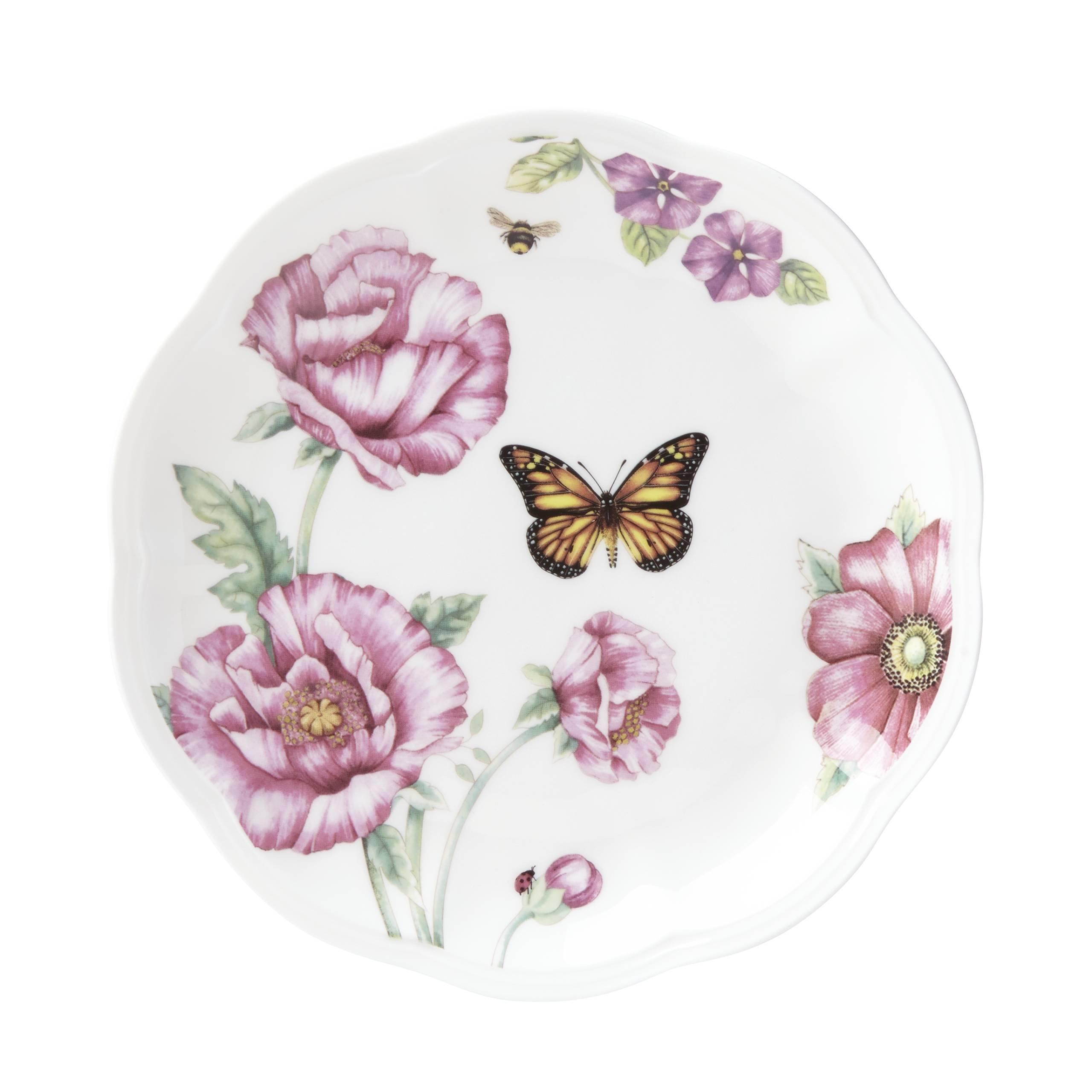 Lenox 829040 Butterfly Meadow Bloom Dessert Plate Set,