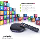 Smart Mini TV Box Android - 6.0 Box with Quad Core s905x Amlogic Flash Supporting 3D 4K Full HD Wifi Media Player Google Internet TV ( Black 2g+8g)