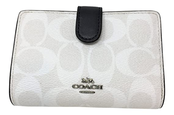 bb762d6c1758a Image Unavailable. Image not available for. Color  Coach Signature PVC Medium  Corner Zip Wallet Light Chalk Midnight F23553