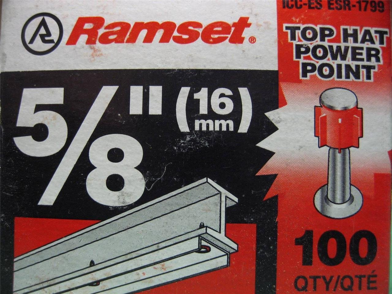 ITW Ramset Red Head SP58TH 5/8 top hat power point
