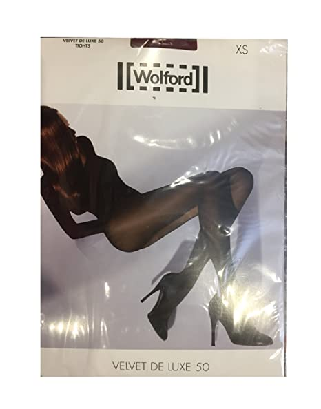64b13ec4786 Wolford Velvet De Luxe 50 Tights Burgundy (Rumba) X-Small US 4 6 UK 6 8 EU  34 36 at Amazon Women s Clothing store