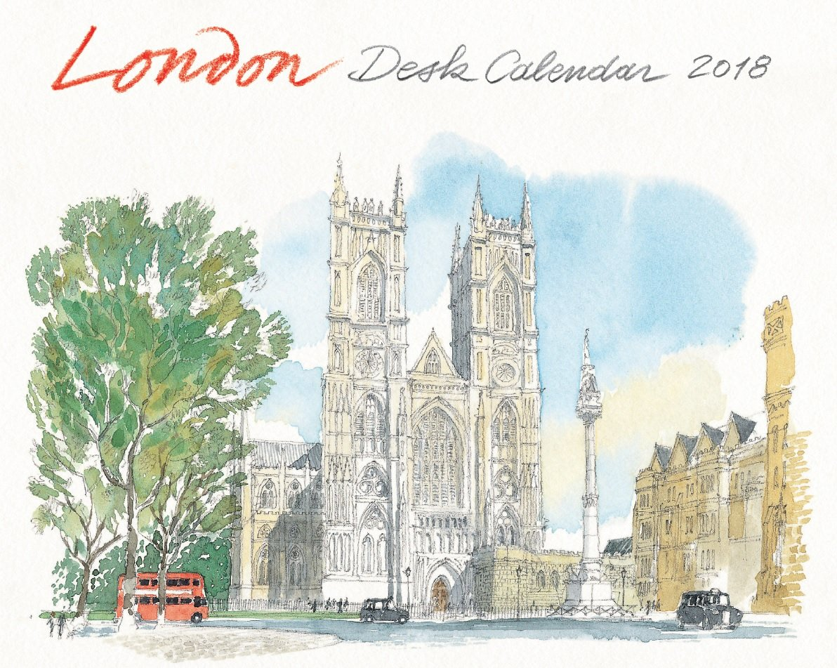 London Desk Calendar 2018 by Editions Didier Millet Pty Ltd