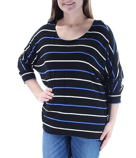 7a99cab68d37c Maison Jules Striped Dolman-Sleeve Top