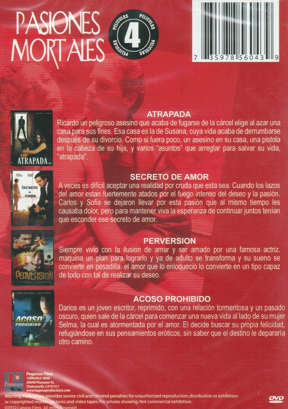 Amazon.com: PASIONES MORTALES 4 PACK:ATRAPADA/SECRETO DE ...