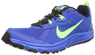 c6252b5182da9 NIKE Men s Wild Trail Trail Running Shoes Blue Blau (Soar Ghost Green Black