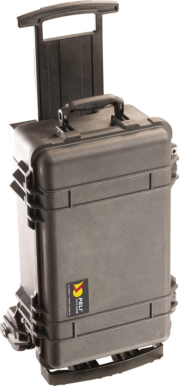 PELI 1510M Maleta Trolley Todoterreno para Equipos electrónicos y fotográficos, IP57 estanca e Impermeable al Polvo, 27L de Capacidad, Fabricada en EE.UU, sin Espuma, Color Negro