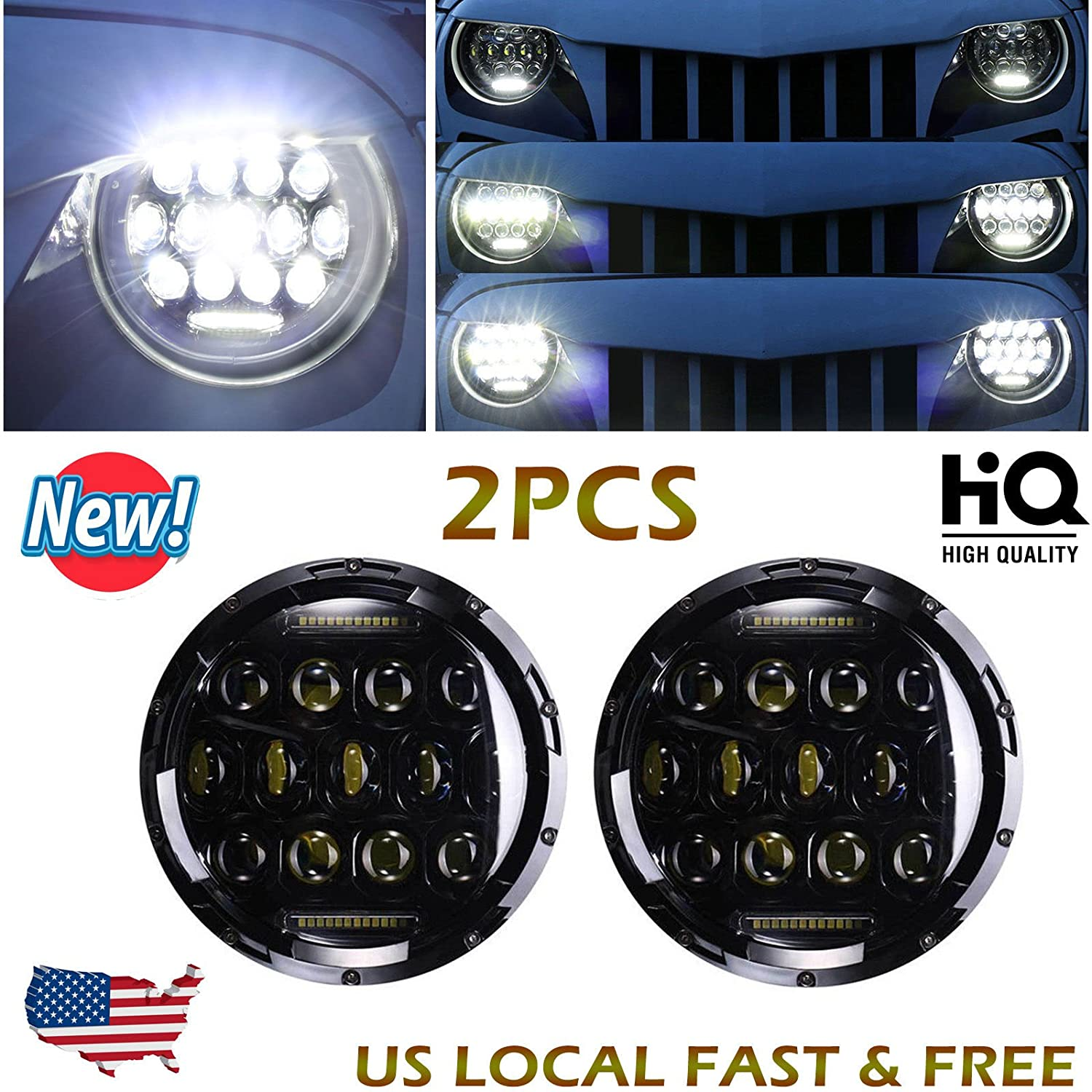 Nissan Cube Led Headlights Jeep Wrangler Oem Fog Lights Pair Inch Round Sealed Beam High And Low For