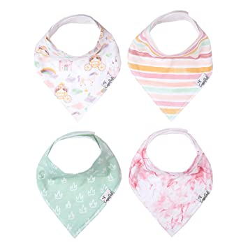 "Baby Bandana Drool Bibs for Drooling and Teething 4 Pack Gift Set for Girls /""Autumn/"" by Copper Pearl"