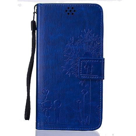 Beiuns Funda de PU Piel para Xiaomi Redmi Note 3 / Note 3 Pro (5,5 Pulgadas) Carcasa - TX521 Azul Hermoso