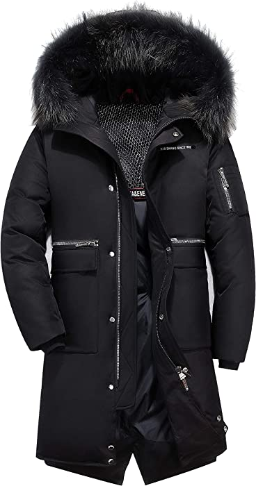 Men Down Jacket Puffer Coat Warm Parka Quilted Stand Collar Overcoat Windproof #