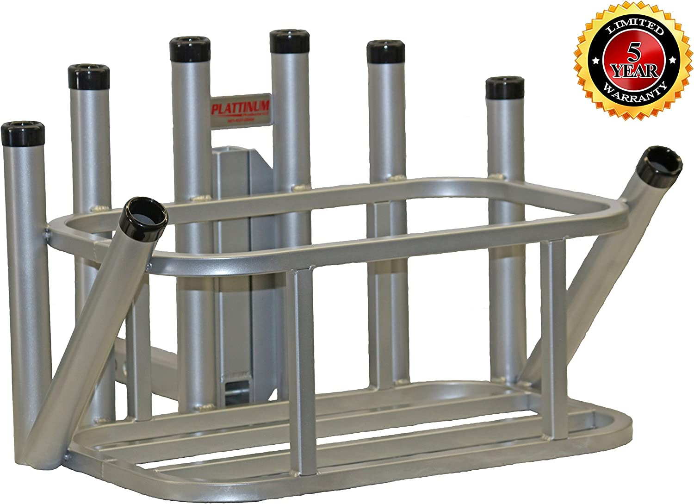 Plattinum Products Rod Rack Cooler Holder Combo Mill Finish