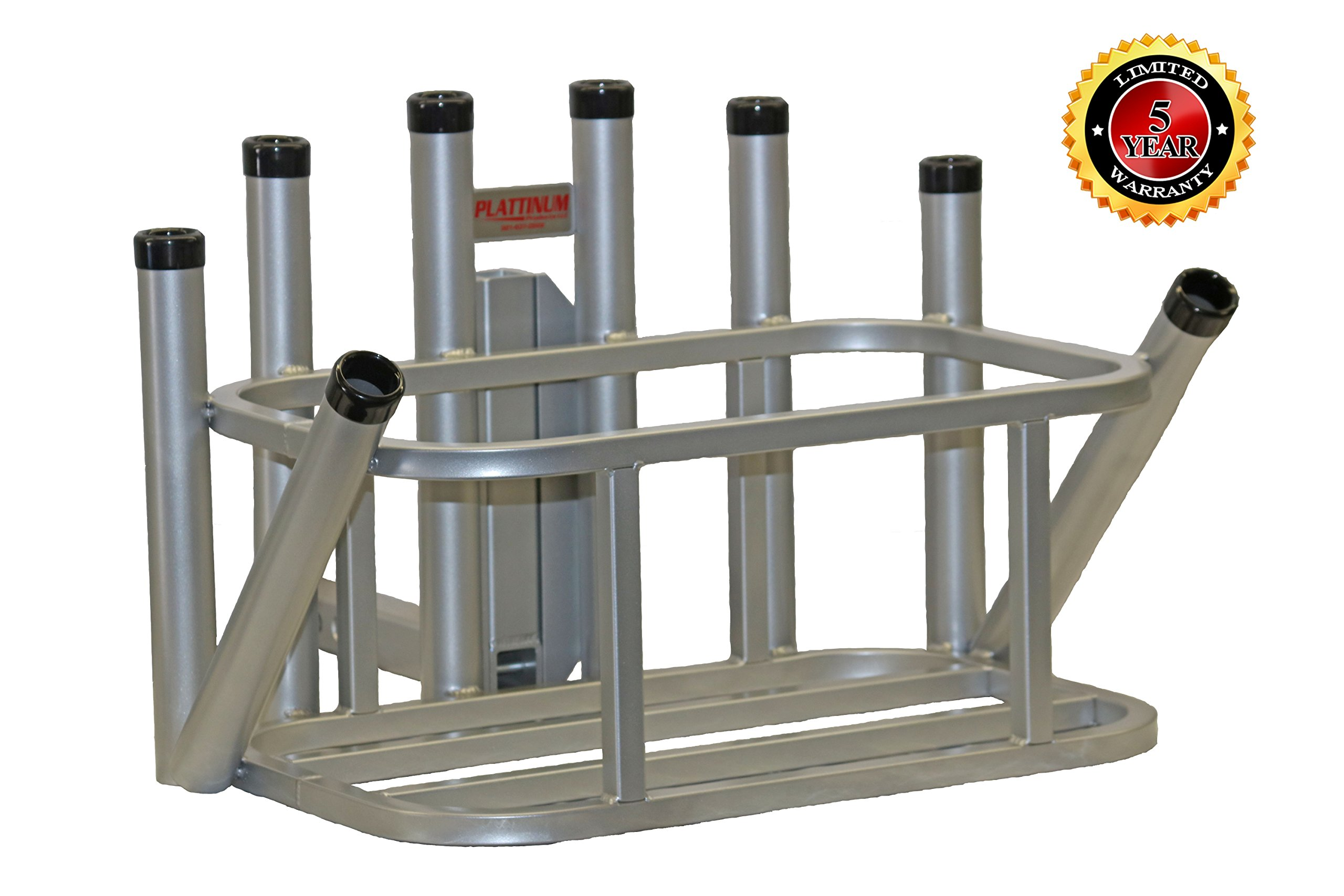 Rod Rack Cooler Holder Combo (Mill Finish) by Plattinum Products