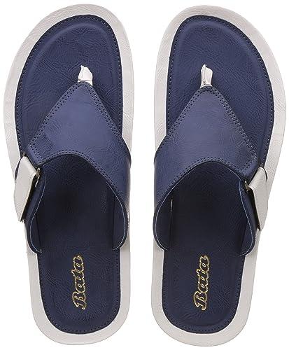 ba626399639 BATA Men s Ripley Thong Blue Hawaii Thong Sandals - 10 UK India (44 EU