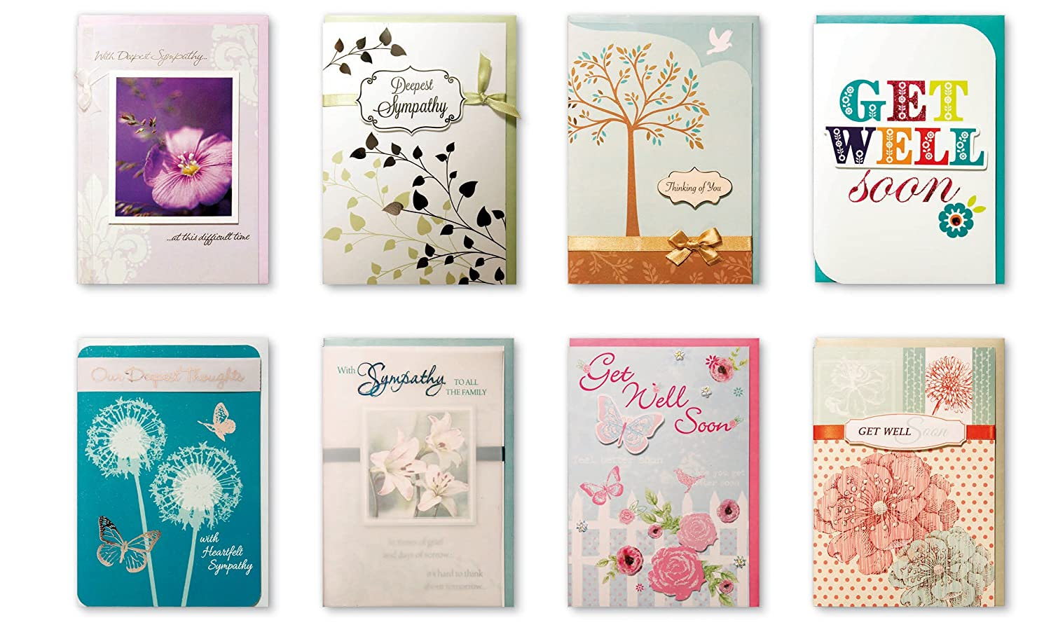 Amazon Com Assorted Handmade Embellished Greeting Cards 8 Pack