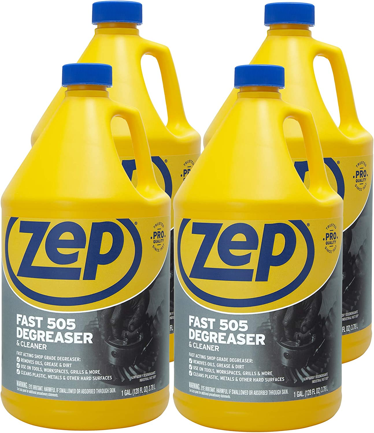 Zep Fast 505 Cleaner & Degreaser 1 Gallon ZU505128 (Case of 4) Industrial Strength