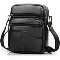 SPAHER Men Leather Handbag Shoulder Bag Satchel Business Messenger Backpack Crossbody Casual Tote Sling Travelling Bag for Wallet Purse Mobile Phone Keys