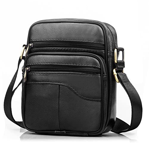 f7974855d085 SPAHER Men Leather Handbag Shoulder Bag Satchel Business Messenger Backpack  Crossbody Casual Tote Sling Travelling Bag For Wallet Purse Mobile Phone ...