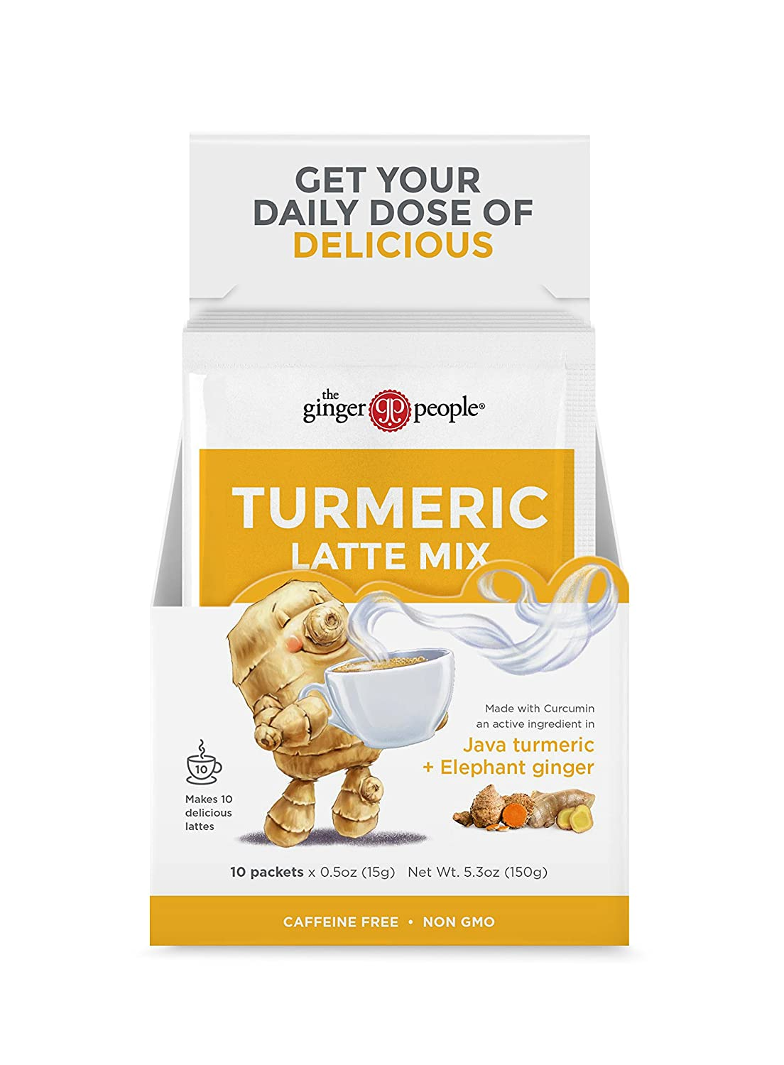 The Ginger People Turmeric Latte Mix-10 Sachets, Ginger 5 Ounce