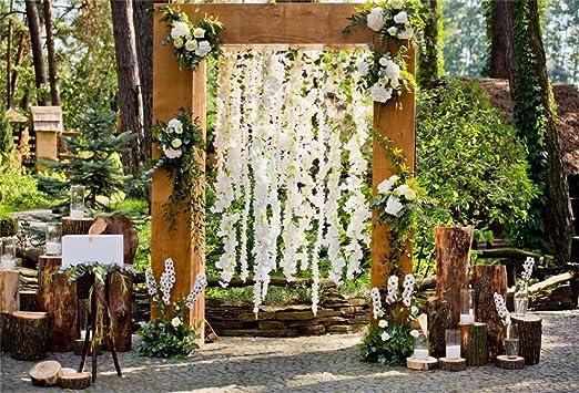 aofoto 6 x 4ft romántico arco de boda ceremonia decoración telón ...