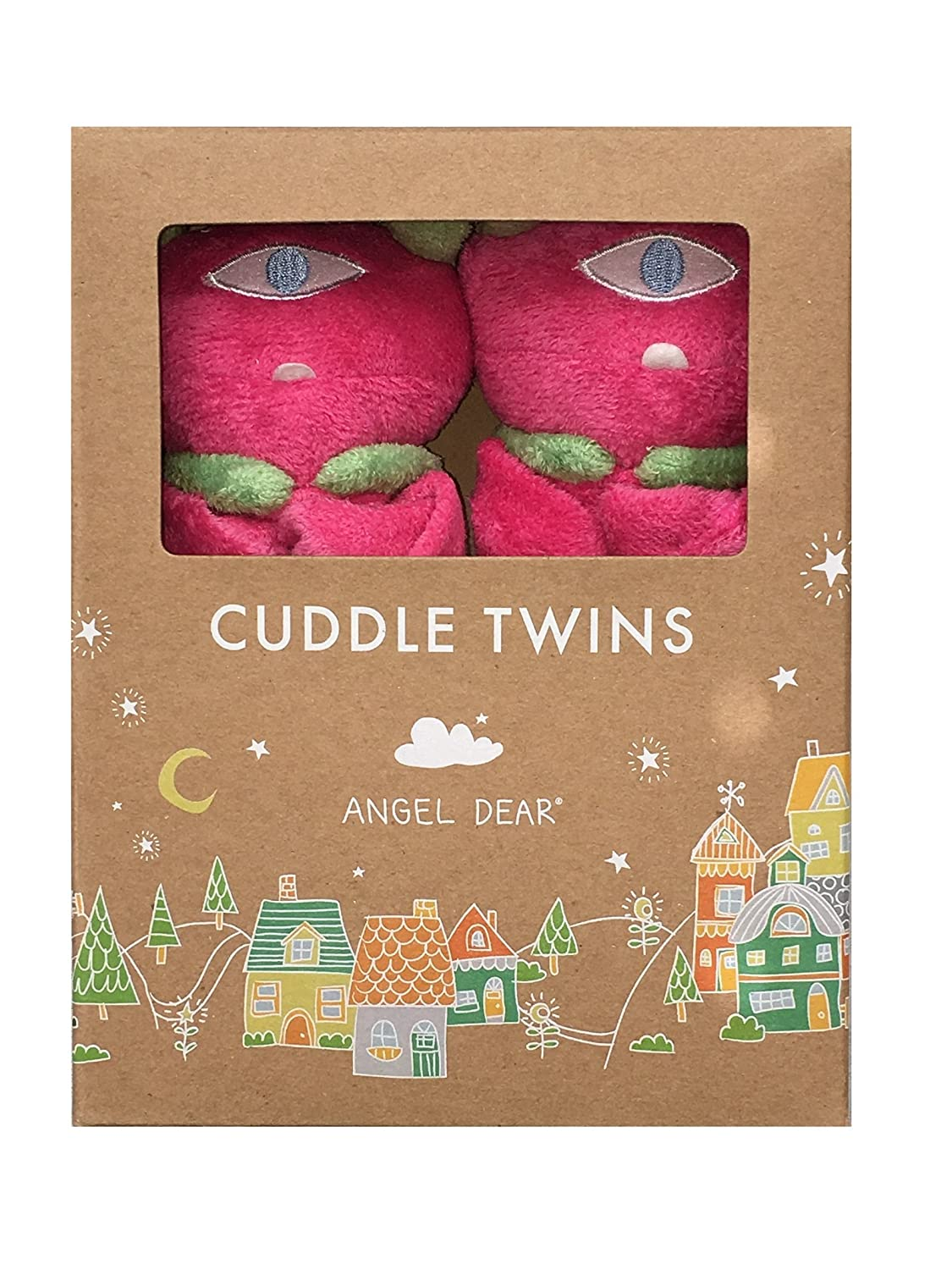 Angel Dear Monster Twin Set Blankies Box, Fuchisa Cyclops. by Angel Dear   B01G9JENXK