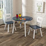 KidKraft Round Table and 2 Chair Set (White/Navy)