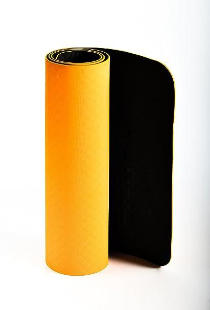 Alfombra Yoga JAS Namaste, con bolsa de transporte, Alfombrilla Doble capa, maletero, Eco compatible, tamaño extra de 183 x 61, grosor de 6 mm, para ...