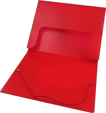 Q-Connect - Carpeta tipo caja con gomas, color rojo: Amazon.es: Oficina y papelería