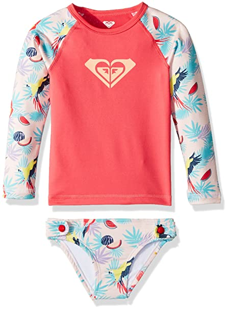 Roxy Girls Vintage Tropical Long Sleeve Rashguard Set