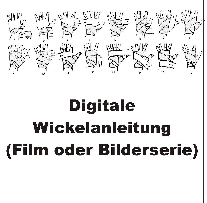 Handbandagen WICKELANLEITUNG Deutschland Germany Paar Baumwolle BAY/® BRD 2,5 Boxbandagen Box-Bandagen 2 St/ück schwarz rot gold gelb 2,5 Meter x 5 cm