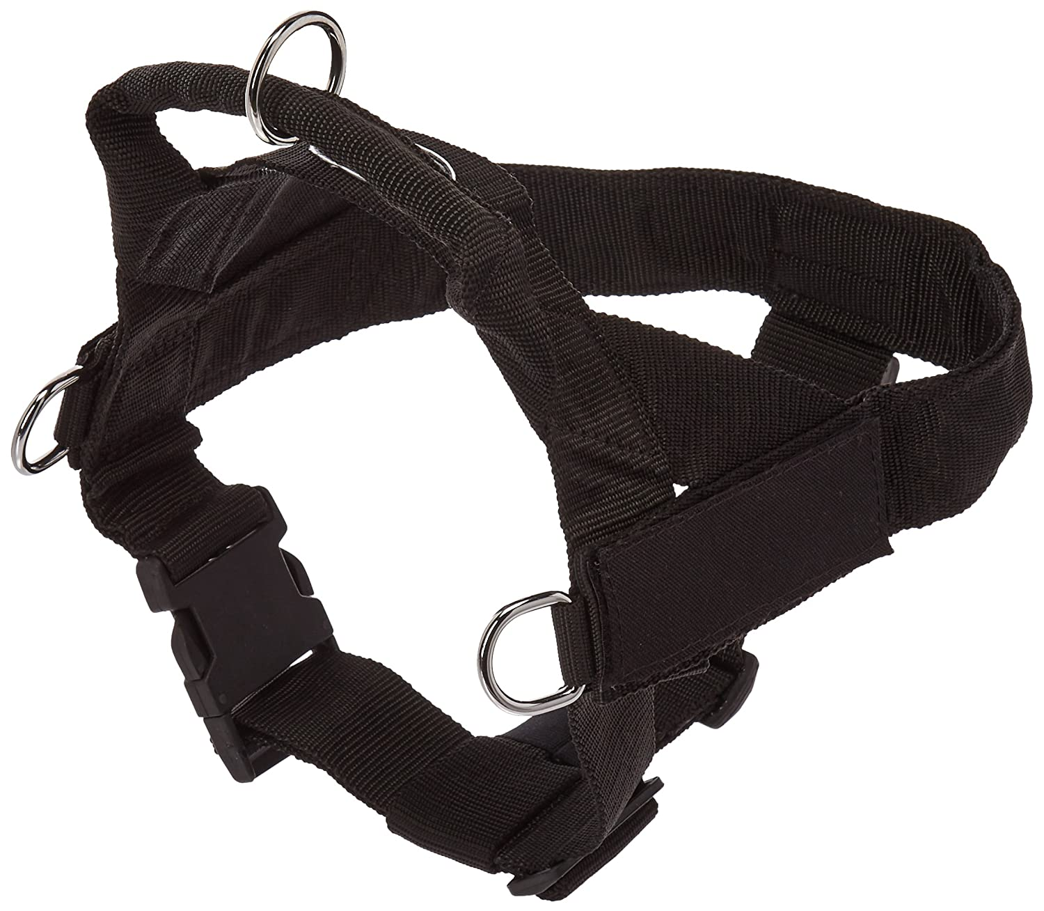 DT Universal Fun No Pull Dog Harness, Made in USA, Black, Medium, Fits Girth Size  26-Inch to 32-Inch